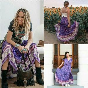 Spell Bravehearts dahlia maxi skirt purple haze M